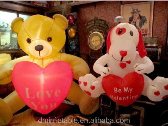 Valentine's inflatable teddy bear decoration