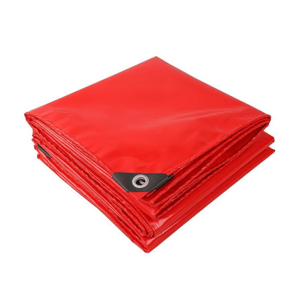Red 0.45mm thick tarpaulin/PVC tarpaulin/tear-resistant tarpaulin/festive canopy cloth/waterproof sunscreen shade cloth/520g/m2 (Color : Red, Size : 47m)