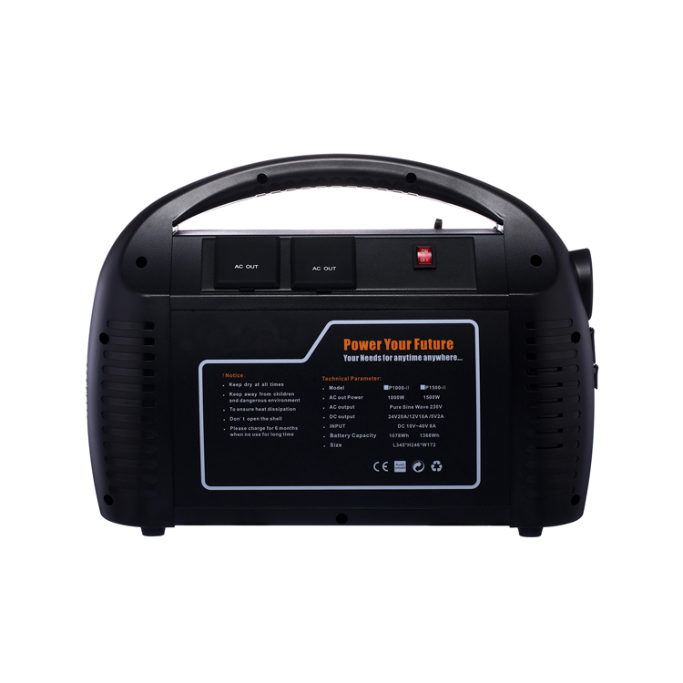 Manufacturer direct AC 110V 220v 1000W Portable lithium power station solar generator with ups power supply