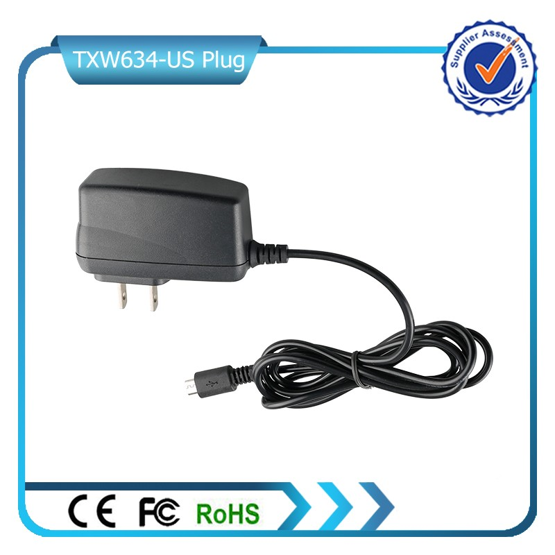 CE ROHS 5V 1A US Wall Charger for Nokia Samsung
