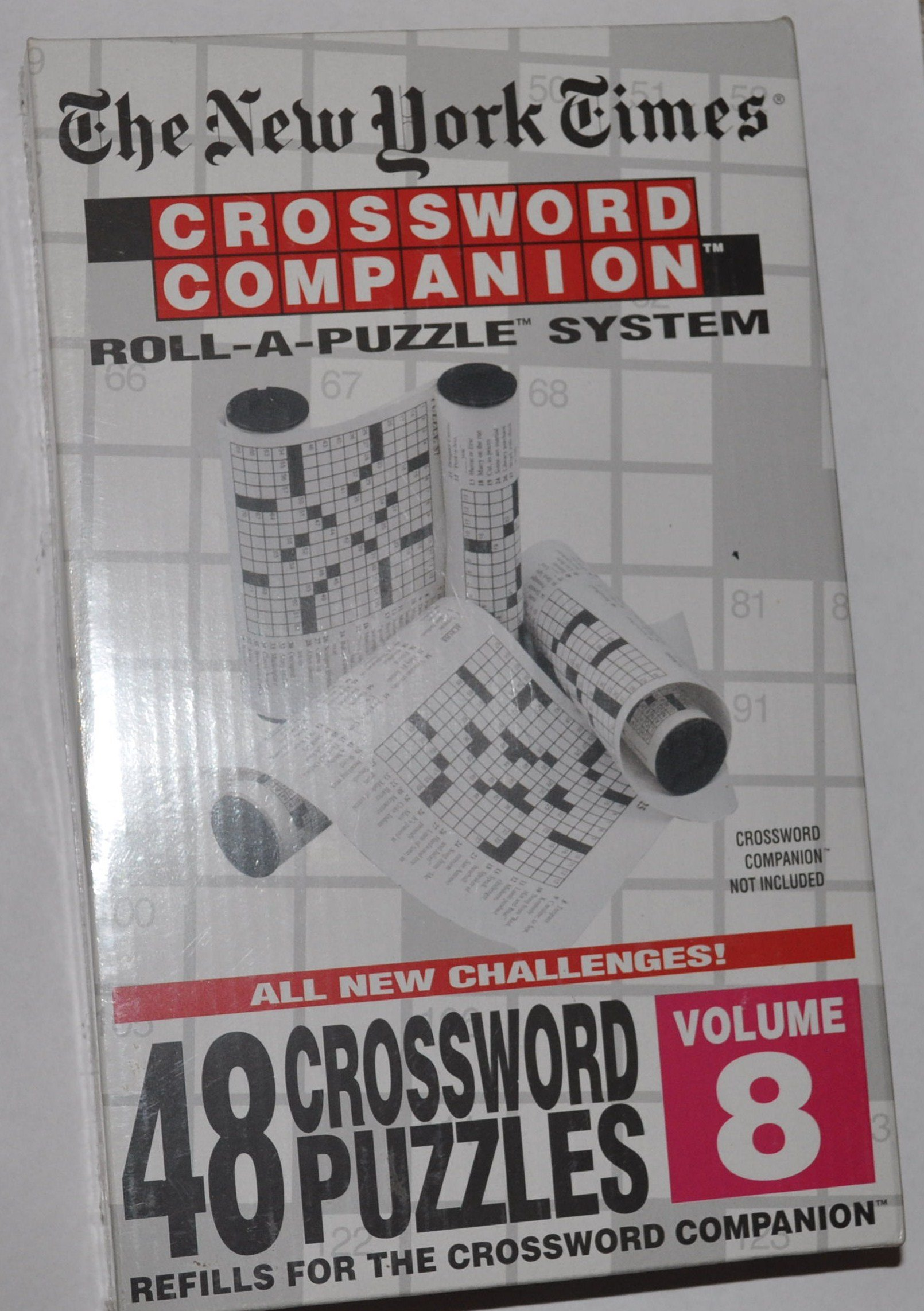 The New York Times: Crossword Companion Roll-A-Puzzle Refills Volume 8
