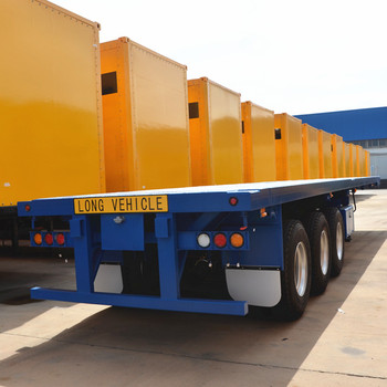 Heavy Duty Flatbed 3 Axle 20ft 40ft Container Tractor Trailer Price Buy 40ft Container Trailer Flatbed Semi Trailer Tractor Trailer Product On Alibaba Com