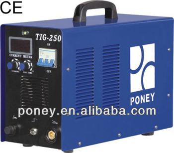 ce portable mosfet inverter HF argon tig welder 250 amp/industrial machine/portable tig weiding machine