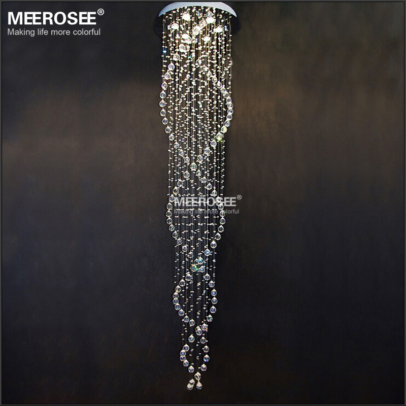 Ceiling Chandelier Spiral Crystal Ceiling Lighting Fixuture ...