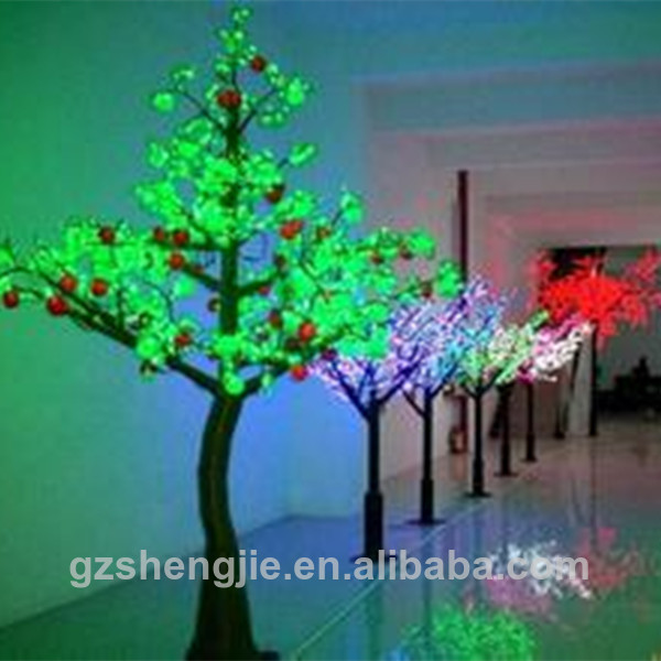 artificial LED lights pine tree artificial lighted green pine fruits tree