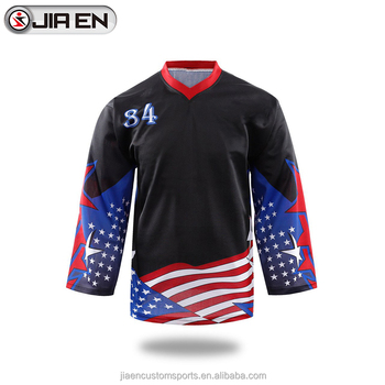 Newest team set hockey jerseys custom cheap sublimation blank usa hockey  jersey 10bc5458ac2