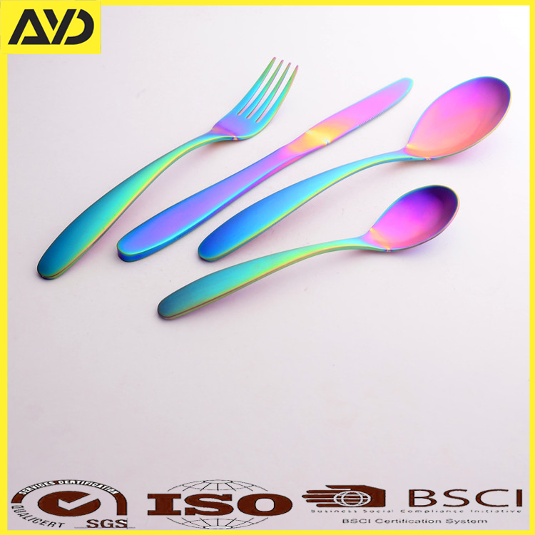 ayd matte stainless steel rose gold /copper flatware set