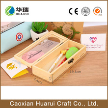 Provide free sample customized wooden pencil case