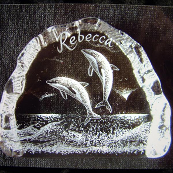 lovely crystal dolphin image iceberg ,cristal wedding gifts