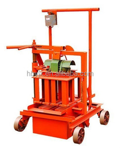 manual block making machine paver with easy operation movable machine brick