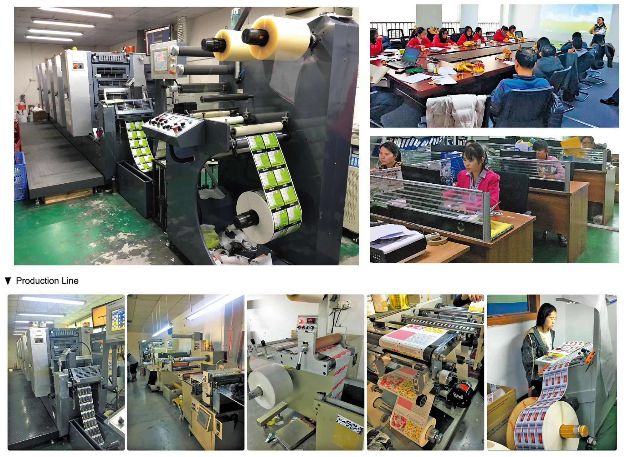 מוצרים באיכות גבוהה אריזת תוויות רול מותאם אישית הדפסת גלוס תוויות