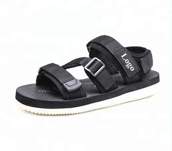 12ccdcc34 2018 Custom Design logo Summer Hot Sale comfortable Beach Sports Slide Slippers  Men Sports Slide Sandals