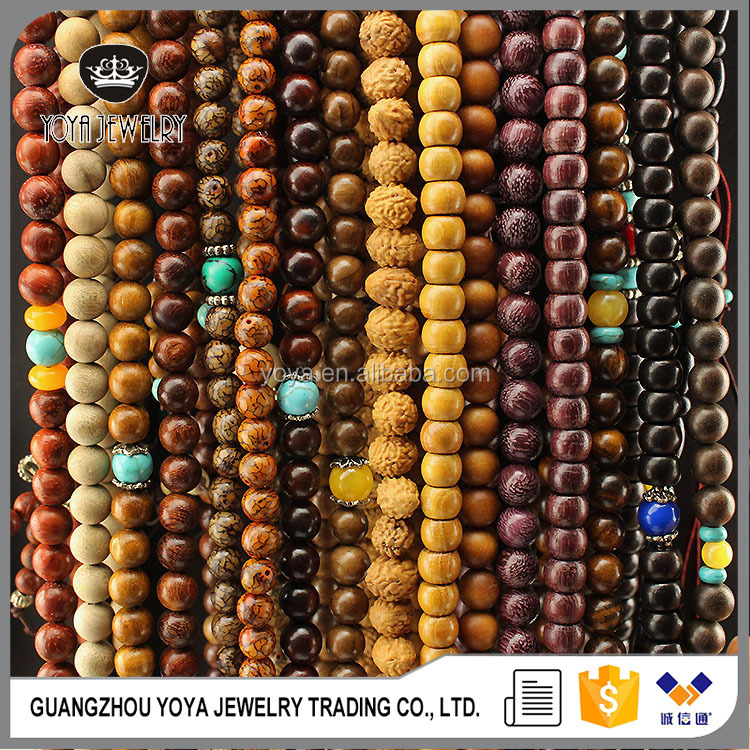 PBB1050 Sandalwood Buddhist Prayer Beads, 108 Healing Beads,Wood Wooden Beads Rossry Necklace