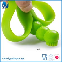 Soft Toy Style and Silicone,100% Food Grade silicone Material Organic Baby Teether Wholesale