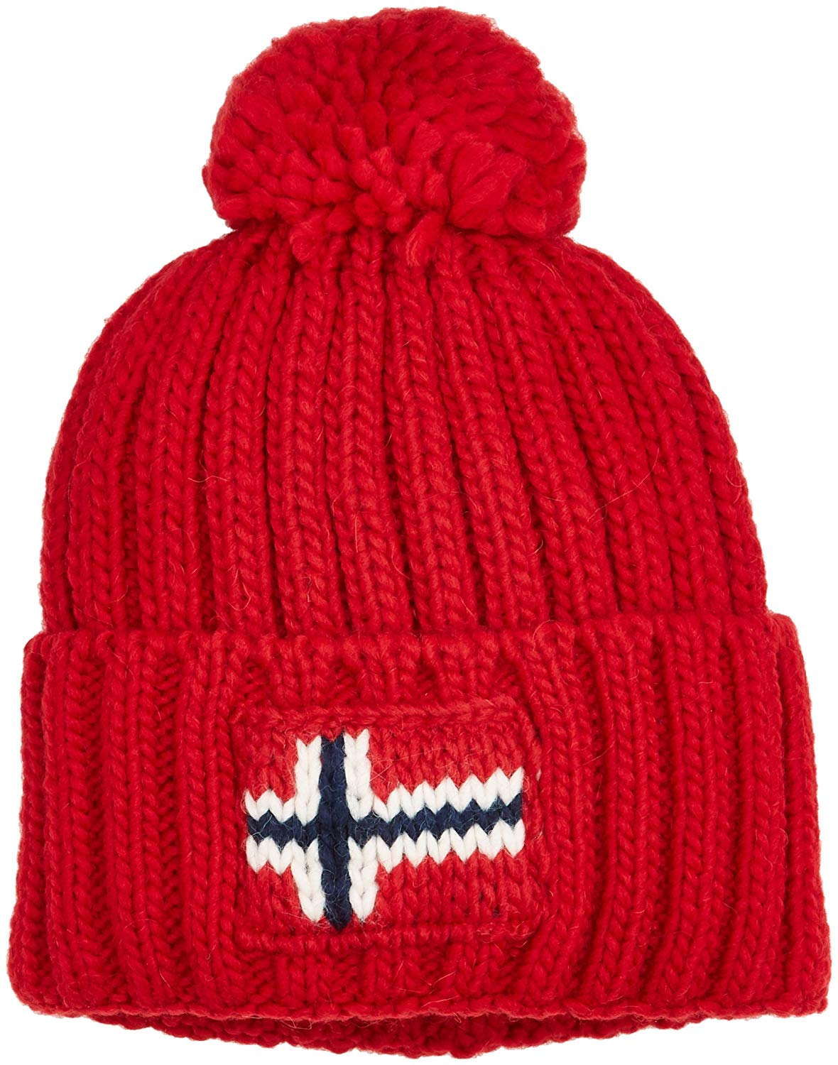 33e40372edd Get Quotations · Napapijri Semiury Bobble Hat in Navy