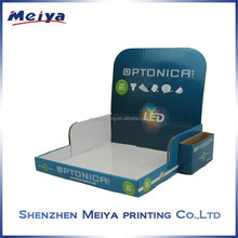Retail counter LED display/competitive price brochure paper LED display box/LED PDQ from shenzhen