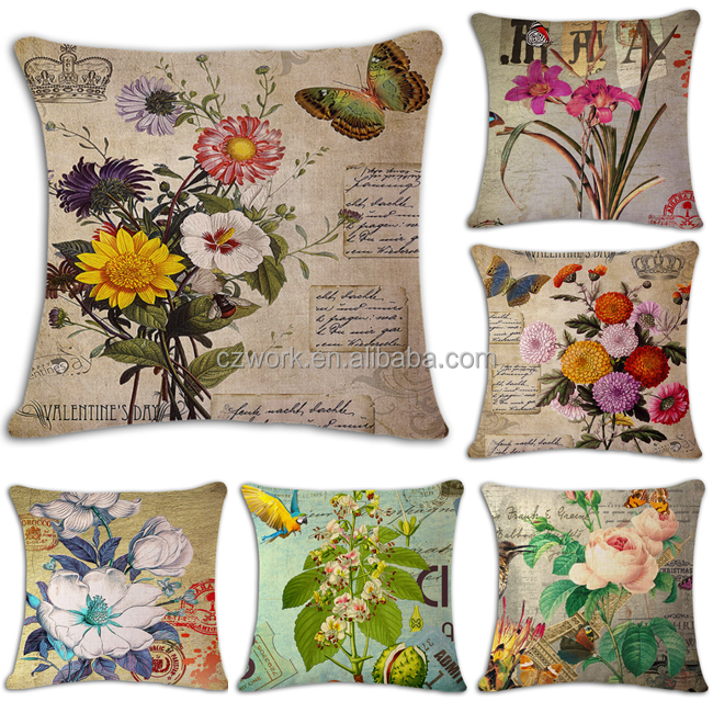 Fashionable Flowers Printed Home Decorative Cushion Cover cushion covers floral designs