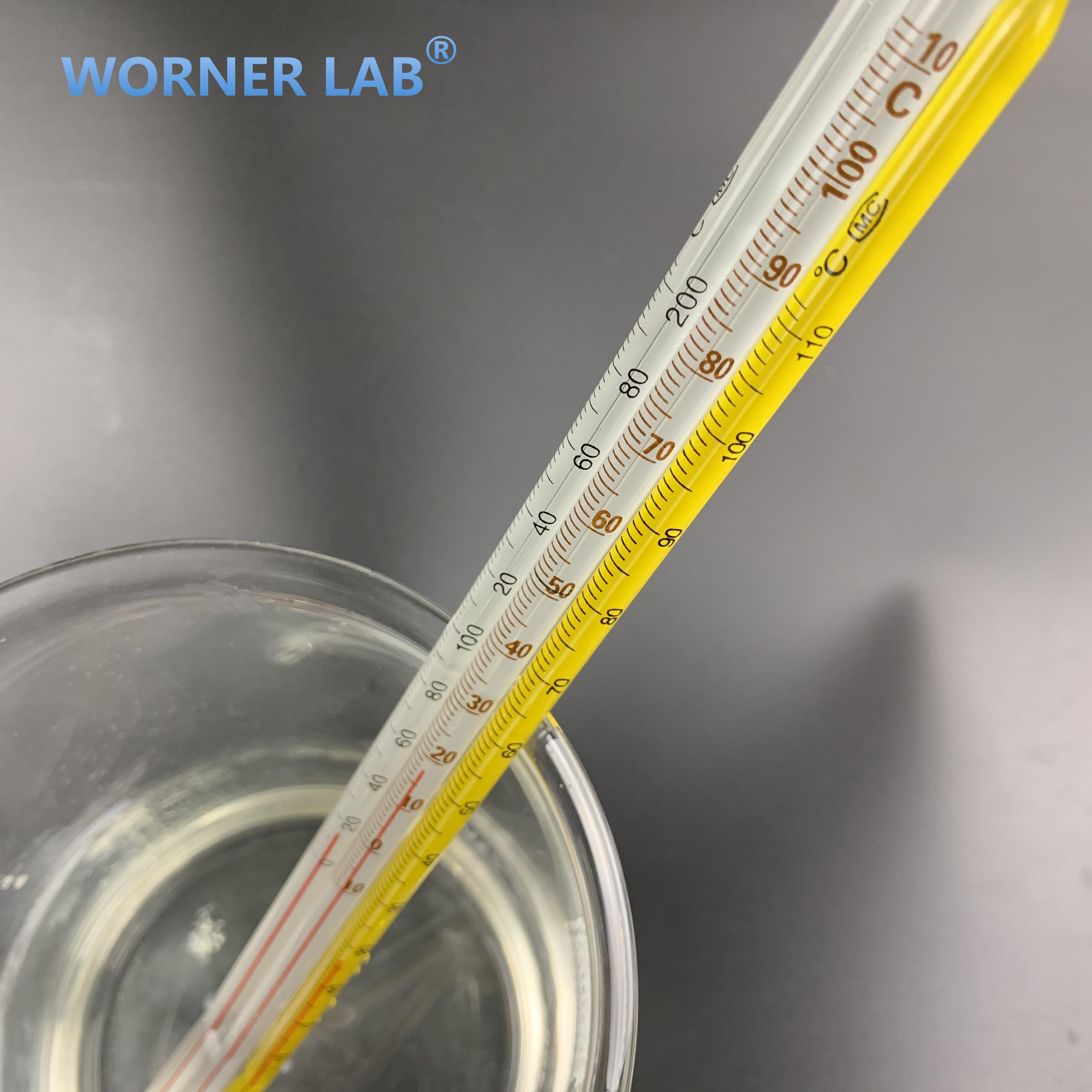 Glass red mercury thermometer price