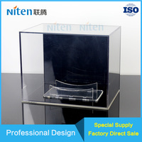 Clear rugby basketball ball display stand acrylic display cases for sports good products exclusive shop