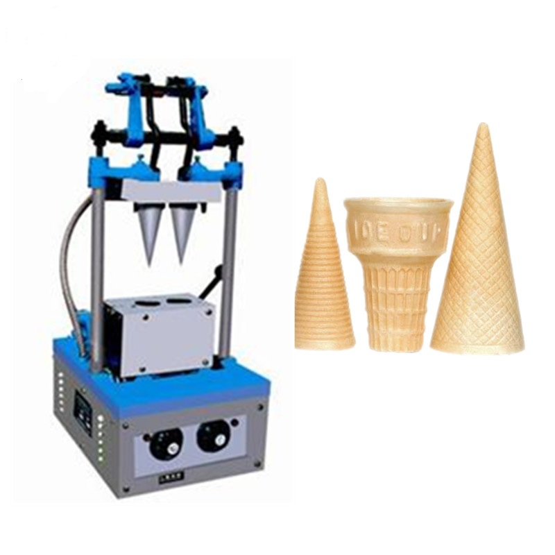 2 Cones Per Batch Ice Cream Cone Wafer Maker Machine Ice Cream Cone Maker