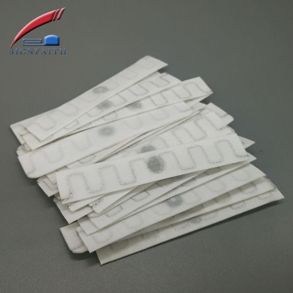860 960 MHz UHF RFID Textile Fabric Woven Cloth Laundry Tag For Towel