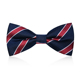 New Beauty Product Men's Bowtie Micropolyester Fashion Style Party Neck Bow Tie Black and Red