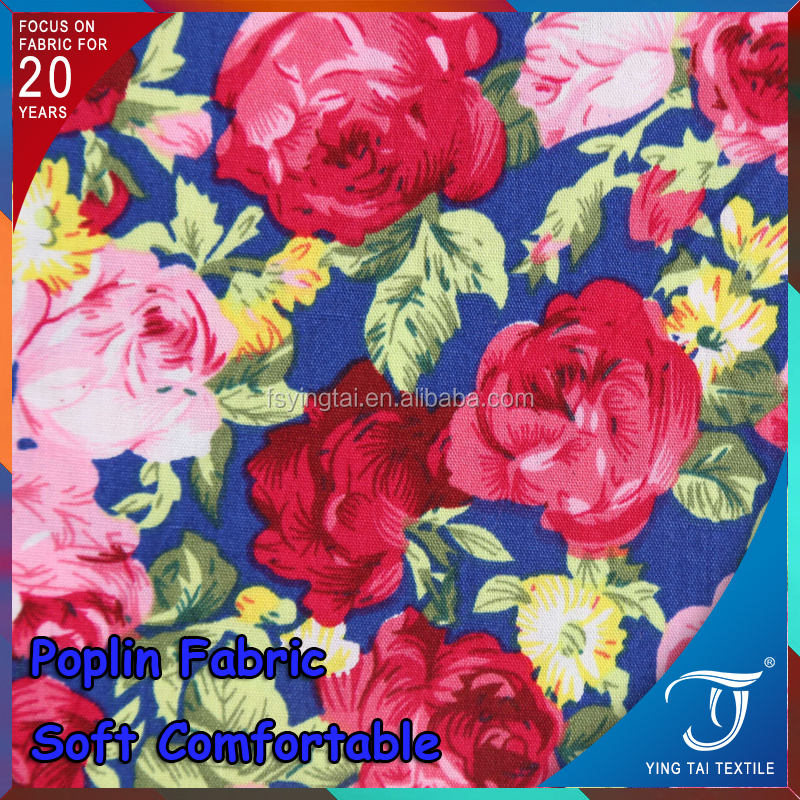 IN STOCK Lady dressing 100% viscose rayon fabric textile printing fabric yarn dyed 100% organic cotton printed poplin fabric