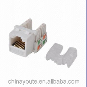 keystone Jack, cat 6 class E, UTP Type, 180punching direction, for connecting