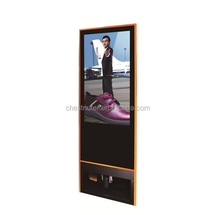 Beautiful Product Full HD Shoe Cleaning Digital Billboard Advertising Floor Stand LCD Ad Player