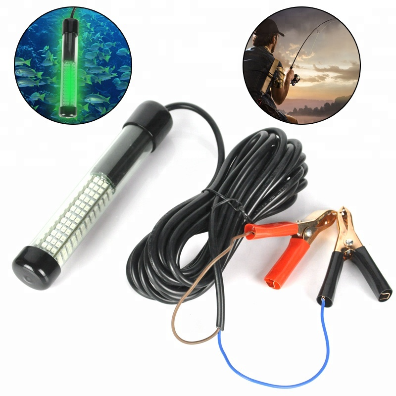 12V Green High Power Fishing Lures Light Attract Fish 180 LED Underwater Fishing Light EHG0601