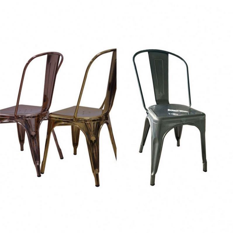 Venta al por mayor sillas para comedor cromadas Compre