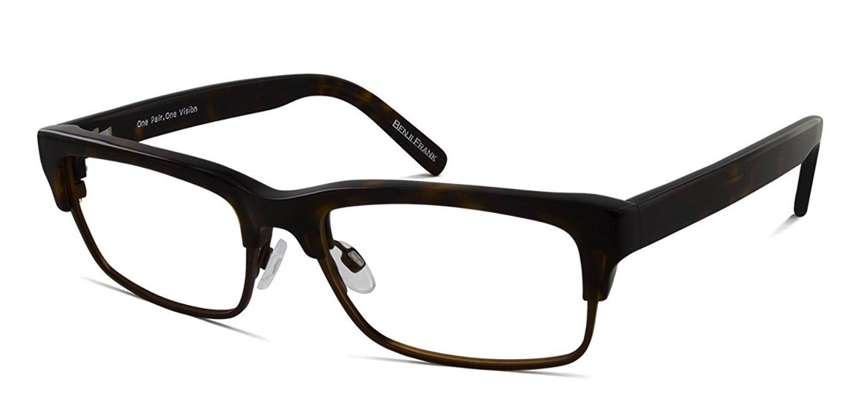 d7223a5afa Get Quotations · Benji Frank Carter Vintage Modern Black Eyeglasses Plastic  Metal Large Frames Designer Retro Style