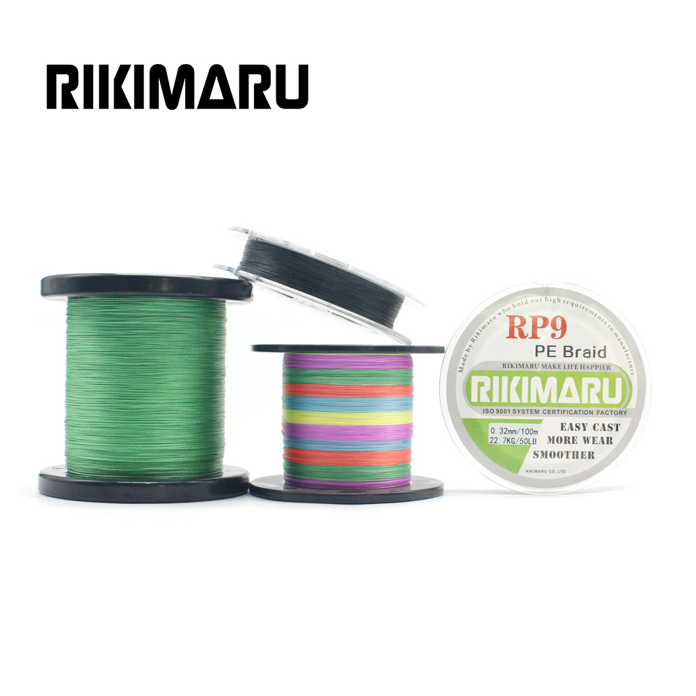 Rounder 9 strands Braided bass fishing line 20LB-300LB, Any color