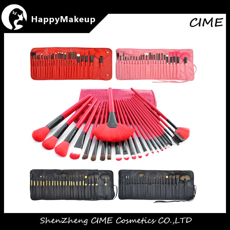 Feiyan 15pcs High Quality Synthetic And Goat Hair Custom Logo Cosmetic Makeup Brushes Set With PU Bag