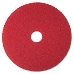 "** Buffer Floor Pad 5100, 17"", Red, 5 Pads/Carton"