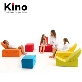 Kids School Kindergarten Dance Room Relaxing Foam Sofa Chair Ottoman Stackable