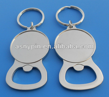 a5dba3e53 keyring do abridor de garrafa do metal da placa do cromo para a etiqueta da  cola