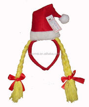 G0726 Christmas braid hat hairband Christmas party headdress