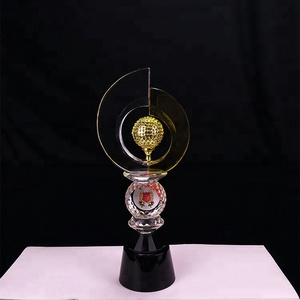 Wholesale customized new design crystal award trophy globe trophy souvenir gift