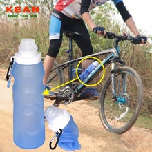 Food Grade Reusable Collapsible Travelling Squeezable BPA Free Silicone Sports Water Bottles