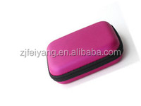 Promotional factory nice design carry travel eva hard shell hair dryer case , PU bag with mesh pocket