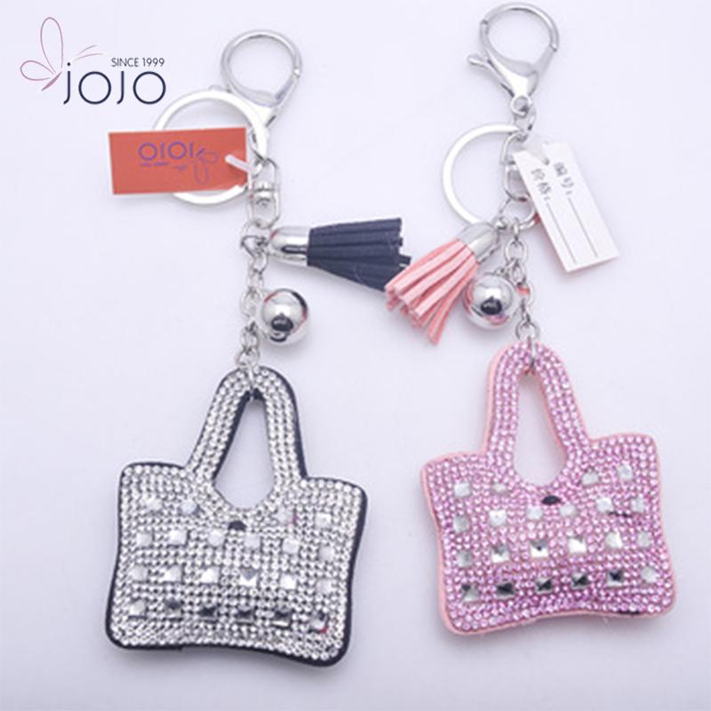 Customized Keyring Accessories Personalized Full Rhinestone Mini Handbag  Keychain 0329c8be7c70