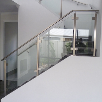 Customized Glass Stair Railing / Used Rail Tracks For Sale