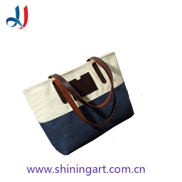 promotional clear leisure outdoors women canvas handbag canvas tote bag