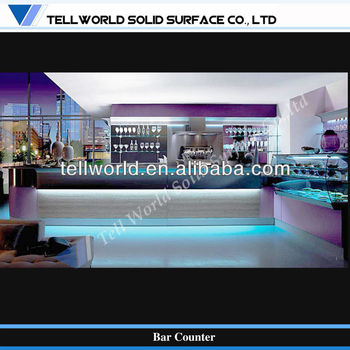 Led Lighting Linear Acrylc Solid Surface Kitchen Service Counter ...