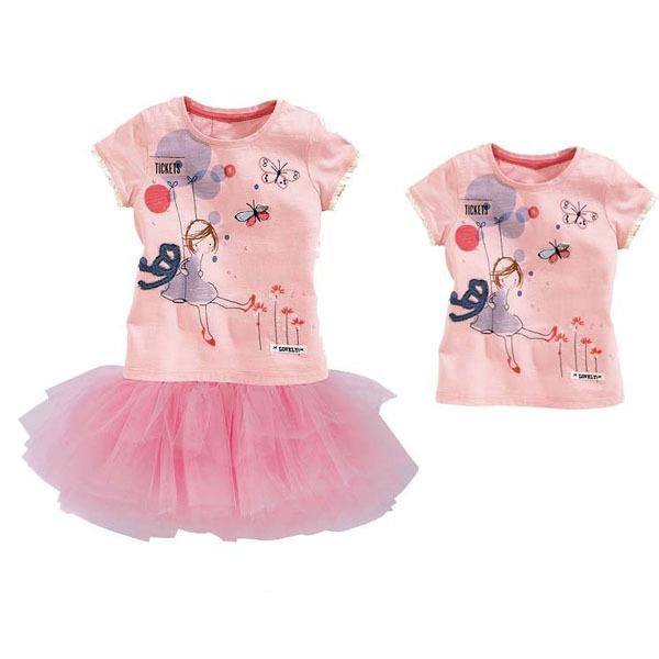300e6f722e8f Get Quotations · 2015 new baby girls clothing sets short-sleeved t shirt+ tutu skirt summer clothing