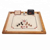 Carrom Board Game Pieces Coins Striker 8mm Large Full Adult Size Complete Wood
