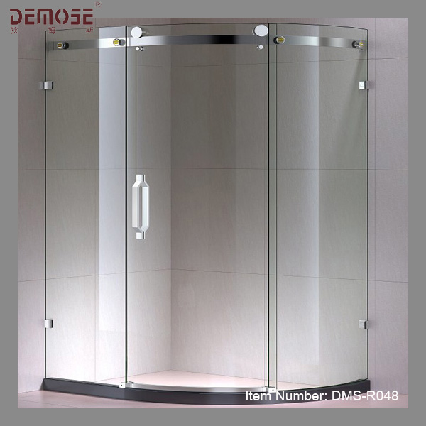 Curved Sliding Glass Frameless Shower Door - Buy Frameless Bifold ...