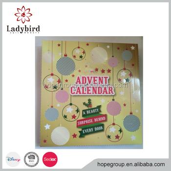 Christmas Advent Calendar Nail Art Gift Kits For Girls Make Up