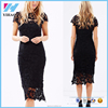 Cheap china wholesale Women clothing women Long black lace dress Women Sexy Long Length See Through Black Lace Dresses
